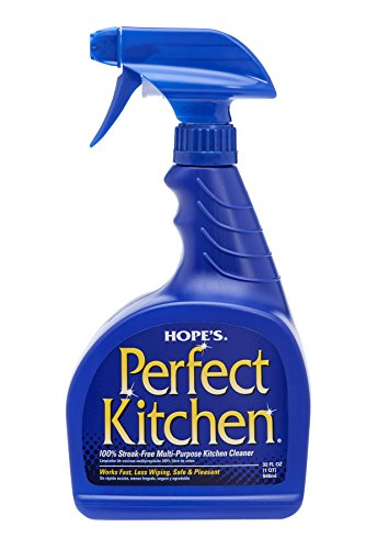 Hope's Perfect Kitchen Cleaner, 32-Ounce, Multi-Purpose Kitchen Cleaning Spray, No-Residue Formula, Cuts Through Grease, Fast Cleanup, Safe for Home (Kitchen Grease)