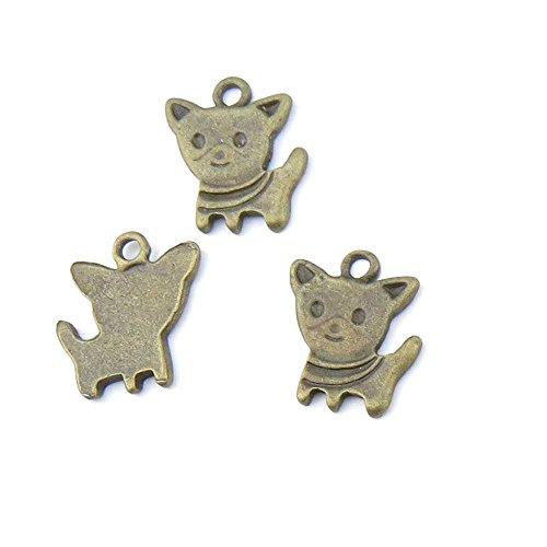 20 pieces Anti-Brass Fashion Jewelry Making Charms 1206 Puppy Dog Wholesale Supplies Pendant Craft DIY Vintage Alloys Necklace Bulk Supply Findings (Wholesale Dog Charms)