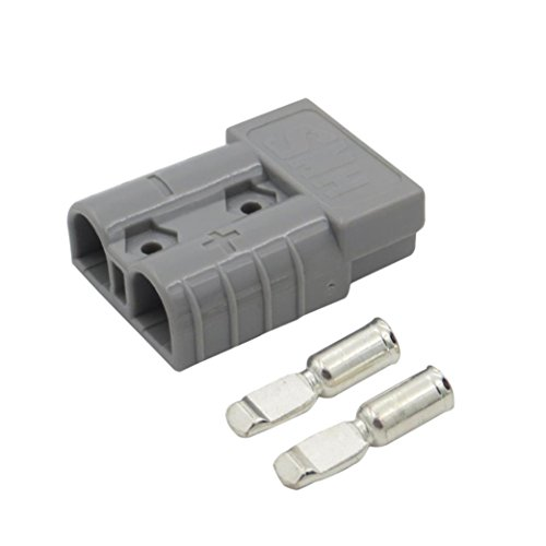 Liping 1x 50Amp Anderson Style Plug 12v 24v Carvan Charger Battery DC Power Connector (Grey)