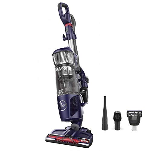 (Hoover Power Drive Bagless Multi Floor Upright Vacuum Cleaner with Swivel Steering, for Pet Hair, UH74210PC, Purple )
