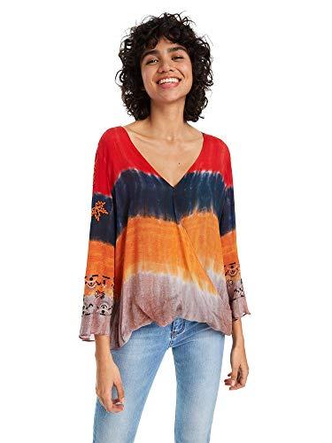 19swbw46 19swbw46 Multicolore Desigual Femmes Femmes 19swbw46 Blusa Desigual Multicolore Desigual Blusa Blusa gf7yb6
