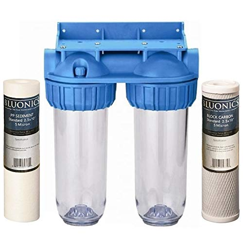 (BLUONICS Dual Whole House Water Filter Purifier > Carbon Block and Sediment Filters Included )