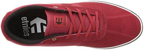 Etnies Men's Scam Vulc Skateboarding Shoe, BurgundyGrey Red/White/Black
