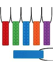 Yideng 5 Pcs Kauwketting kleurrijk Sensorische Kauwketting Food Grade Siliconen Veilig voor Kinderen Tandjes Siliconen Chewy Sticks voor Autistische ADHD Mondelinge Motor Jongens en Meisjes Kinderen