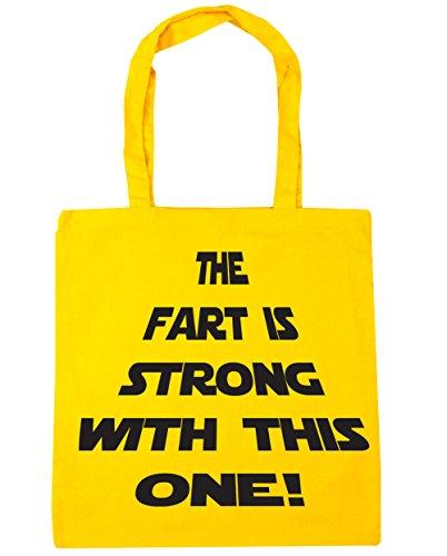 HippoWarehouse la Fart es fuerte con este una bolsa de la compra bolsa de playa 42cm x38cm, 10litros amarillo