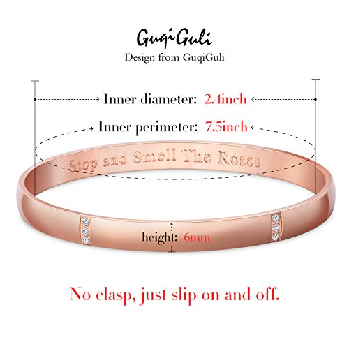 Bangles & Bracelets - GuqiGuli Idiom Bangles Stop and Smell