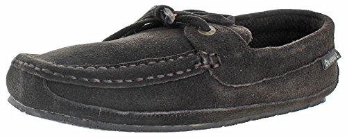 BEARPAW Mens Luke Slip-On Loafer, Chocolate Tweed, 8 M US