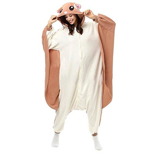 Fly Squirrel Kigurumi Unisex Pajamas Onesies Costume Medium (The Fly Costume)