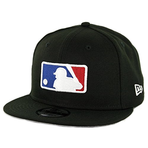 Mlb Logo Caps - New Era 950 Major League Baseball Basic MLB Logo Snapback Hat (BK) Men's Cap