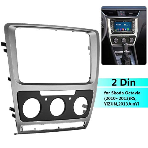 Star-Trade-Inc - Car Stereo Radio Fascia Panel Plate Frame CD DVD Audio Dash Mount Trim for Skoda Octavia Manual A/C 2010 2011 2012 2013 from Star-Trade-Inc
