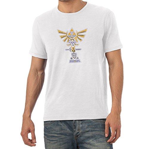 TEXLAB - Triforce Totem - Herren T-Shirt, Größe XL, weiß