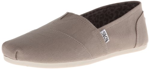 BOBS from Skechers Womens Plush Peace and Love FlatTaupe9 M US