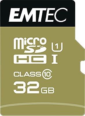 Emtec - Tarjeta de Memoria (32 GB, Microsdhc, Clase 10, 85 MB/S, Negro) Oro