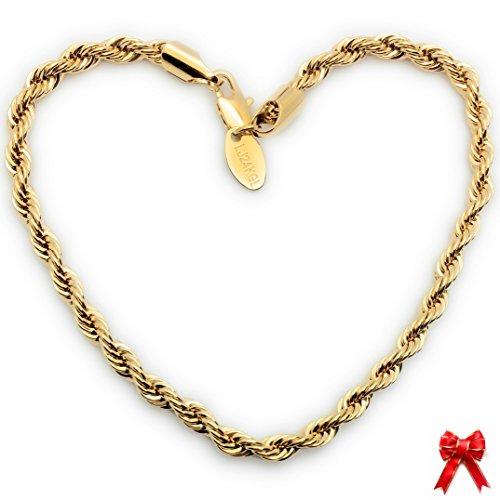 gold bracelet italian mens - 1