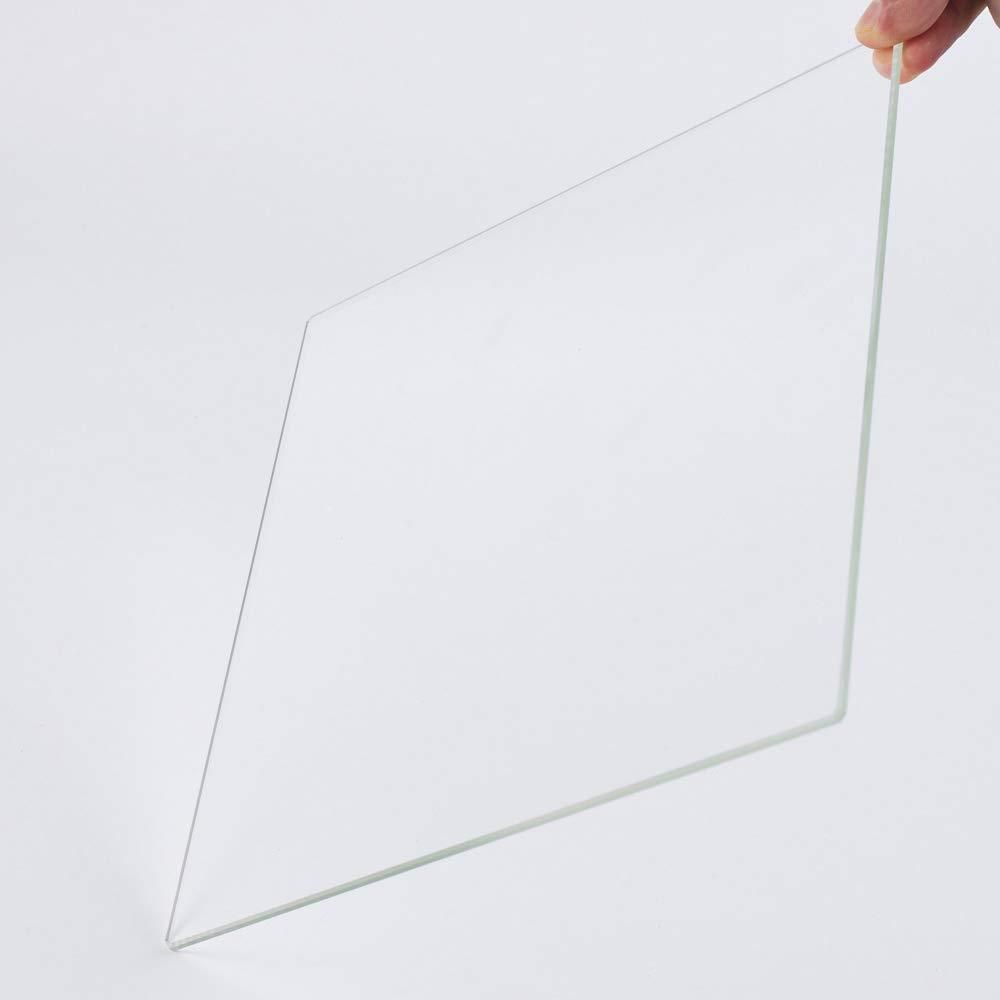 Placa de vidrio de borosilicato de 310 x 310 x 4 mm con bordes pulidos para impresora 3D CR-10 CR-10S S3 CR-X Heatbed