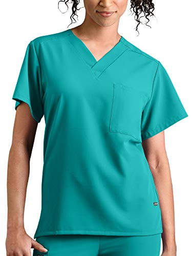 - Jockey Scrubs Classic Fit Collection by Jockey Unisex 1 Pocket Tri Blend Solid Scrub Top Medium Teal