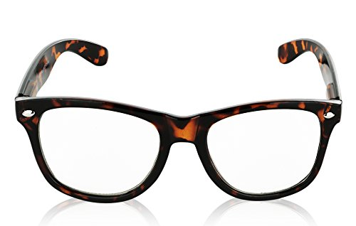 Clear Glasses for Women Clear Sunglasses Tortoise 80's Style Vintage - Glasses Look New Geek