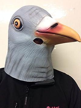 Máscara de látex cabeza copleta paloma película de calidad pájaro animal para disfraz fiesta