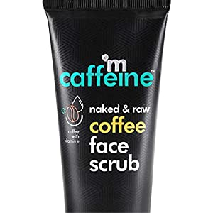 mCaffeine Naked & Raw Coffee Face Scrub, 100 g | Vitamin E | Tan Removal | Oily/Normal Skin | Paraben & SLS Free