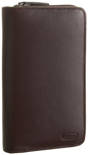 Leatherbay Ladies Zip Leather Wallet,Burgundy,one size, Bags Central