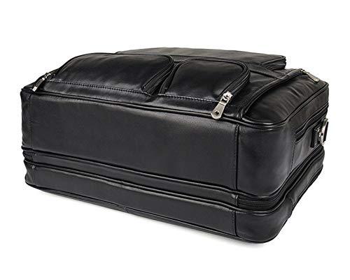 Color color De Shoulder Pulgadas Travel Cuero Case Carry Bags Cartera 17 Chocolate Computer Hombres Color Bolsos Bag Laptop Linannav Messenger Los Trabajo 1aU5xqwf