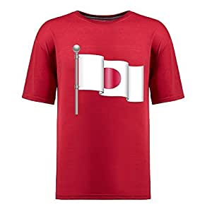 Custom Mens Cotton Short Sleeve Round Neck T-shirt, Printed with World Cup Images red
