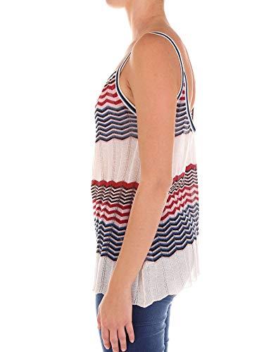 Coton Jucca Top J2721007045 Tank Multicolore Femme tPxw0PqH