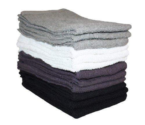 J&M Home Fashions Cotton Utility Bar Mop Dish Towels, 16x19