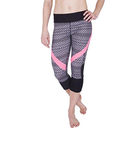 RBX Active Tribal Print Heathered Capri Yoga Leggings