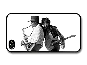 AMAF ? Accessories Bruce Springsteen and Clarence Clemons Saxophone Black and White case for iPhone 4 4S