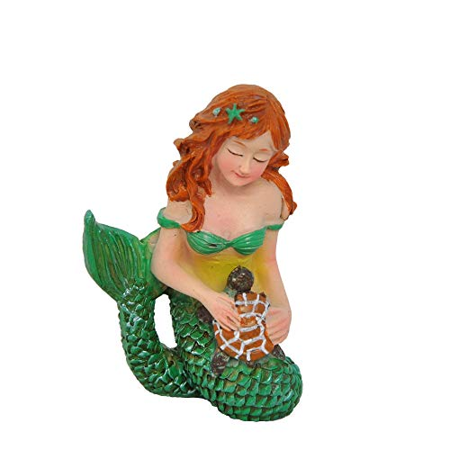 Miniature Fairy Garden Mermaid and Turtle For Sale