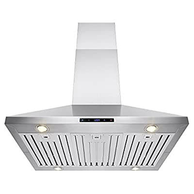 "FIREBIRD 36"" Stainless Steel Island Mount Powerful Cooking Fan Kitchen Vent Range Hood"
