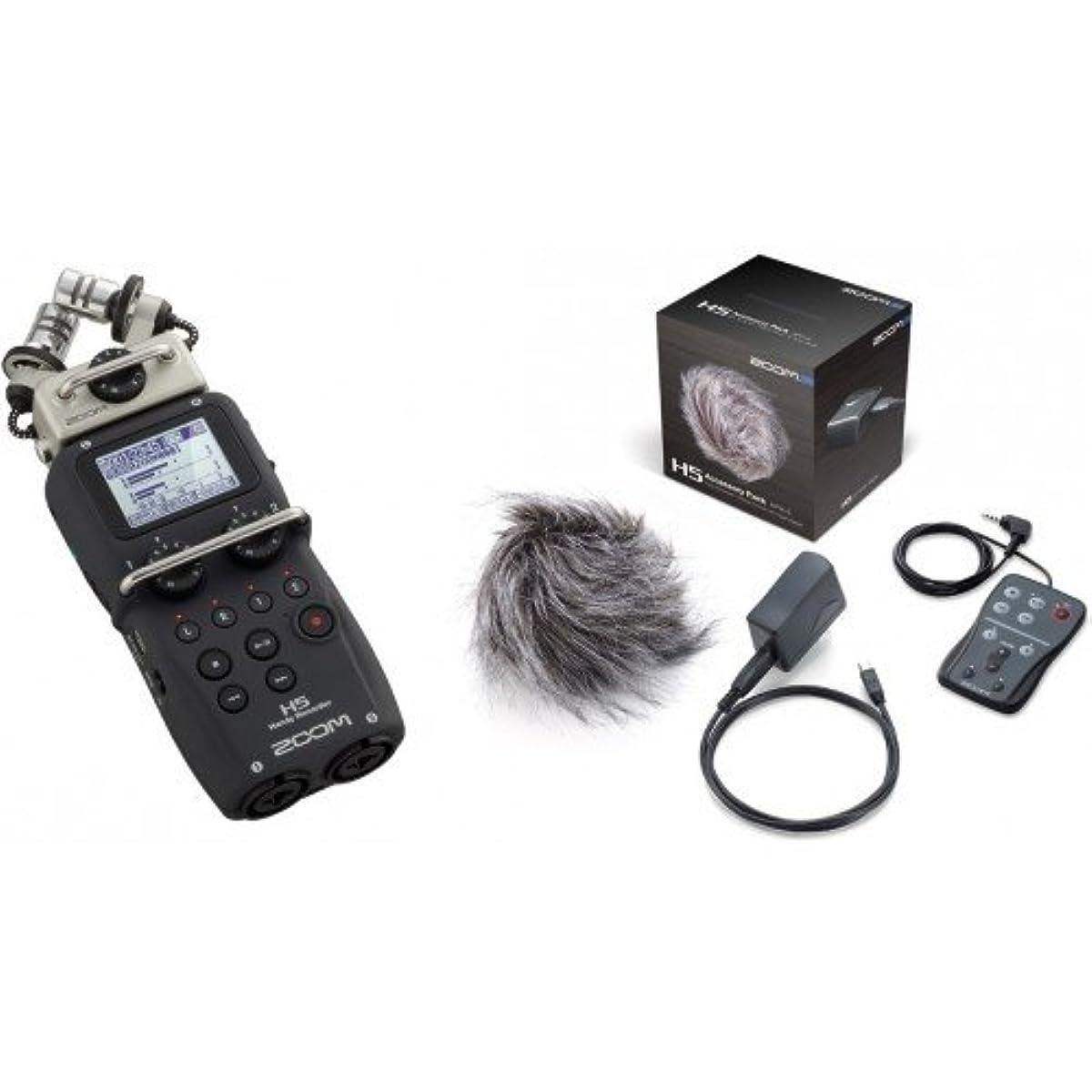 [해외] ZOOM H5 핸디 레코더 APH-5 H5전용 액세서리 패키지 부착 세트