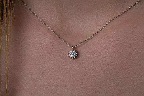 DIAMOND sun necklace, Minimal sun necklace, Tiny diamond sun, Sun charm, Handmade sun, Rose sun necklace, Gold sun necklace, Sun necklace