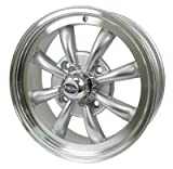 PREMIUM GT-8 WHEEL, Silver With Polished Lip, 5.5'' Wide, 4 on 130mm
