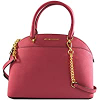 Michael Kors Emmy Large Dome Saffiano Leather Satchel Shoulder Bag Purse Handbag