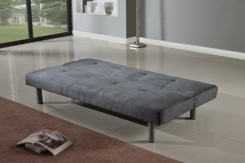 Superb Faux Suede 3 Seater Quality Sofa Bed   Click Clac Fabric Sofabed In GREY:  Amazon.co.uk: Kitchen U0026 Home