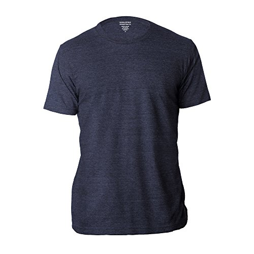 Banana Republic Men's Crew Neck Premium-Wash T Shirts (Navy, -