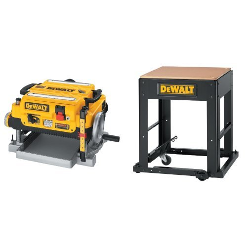 DEWALT DW735 13-Inch, Two Speed Thickness Planer with Planer Stand with Integrated Mobile Base