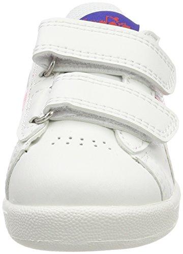 Diadora Game P TD, Zapatillas de Gimnasia Para Niños Blanco (Biancorosso Carminio)