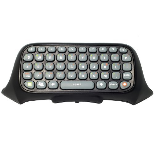 Black Controller Messenger Keyboard Chatpad for Microsoft Xbox 360 Live G19