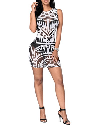 VillyDan Sleeveless Stretch Bodycon Dresses