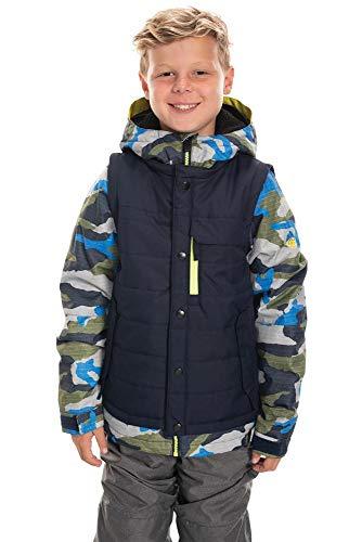 686 Boy's Scout Insulated Jacket - Waterproof Ski/Snowboard Winter Coat, Navy Colorblock, X-Large (686 Boys Snowboard Jacket)