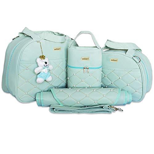 Kit com 4 Bolsas de Maternidade Pérola - Térmico Impermeável - Verde