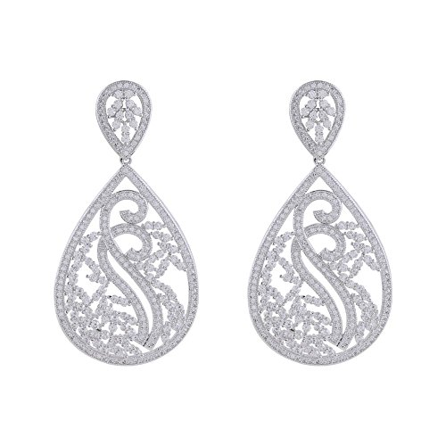 shaze rhodium-plated Estella Earring by Shaze