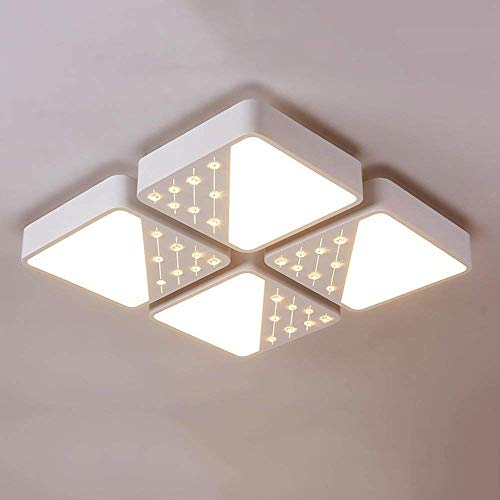 (PLLP Ceiling Light, Home Living Room Bedroom Ceiling Light,Trough Engraving Fashion Creative Cycle-Irons Hot Led Ceiling Lights Ceiling Lights Lounge Bedrooms & Romance Marriage,Two-Color Dimming-56)