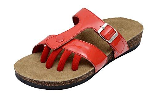 (Wellrox Women's Santa Fee-Sedona Red Casual Sandal 7)