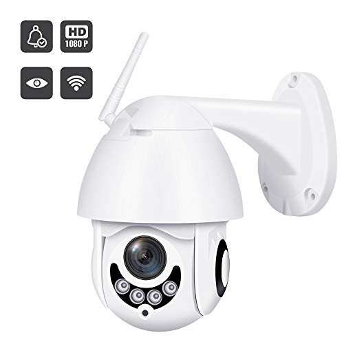 2019 Upgraded Full HD 1080P Security Surveillance Cameras Outdoor Waterproof Wireless PTZ Camera with Night Vision - IP WiFi Cam Surveillance Cam Audio Motion Activated (Best Outdoor Ip Security Cameras 2019)