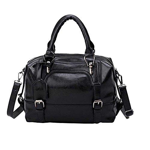 HOSOME Women's Bags Women's Bags Vintage Four Belts Shoulder Bags Sequined Women Handbags Black