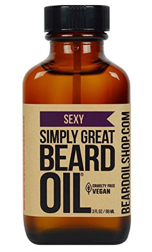 Simply Great Beard Oil – Sexy Scented Beard Oil – Beard Conditioner 3 Oz Easy Applicator – Natural – Vegan and Cruelty Free Care for Beards – America's Favorite